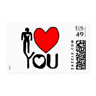 i  love you postage