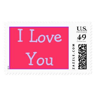 I Love You - postage stamp
