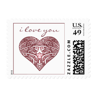 """I Love You"" Postage Stamp"