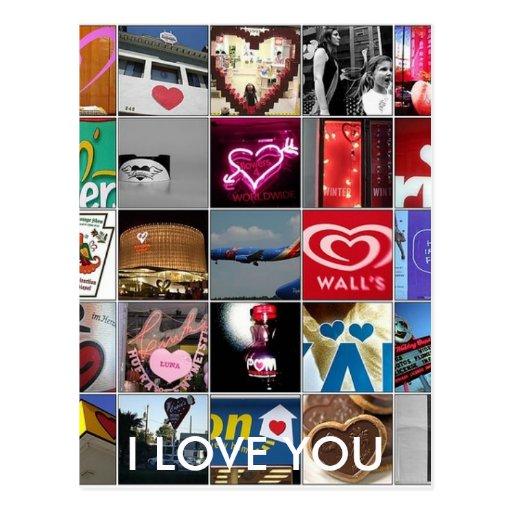 I LOVE YOU POSTCARD