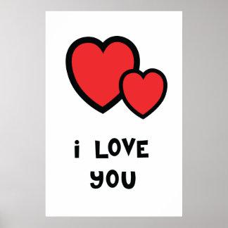 I Love You Print