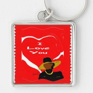 I Love You.... Premium Square Keychain