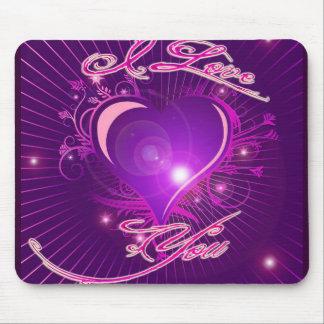 *I love you* Pretty Heart Ventine Design Mouse Pad