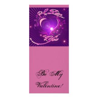 *I love you* Pretty Heart Ventine Design Rack Card Template