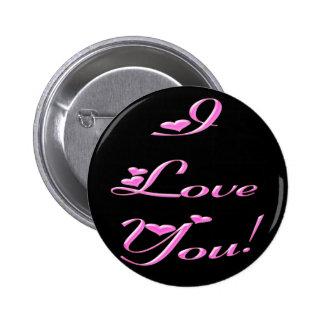 *I Love You* Pretty Hearts Button