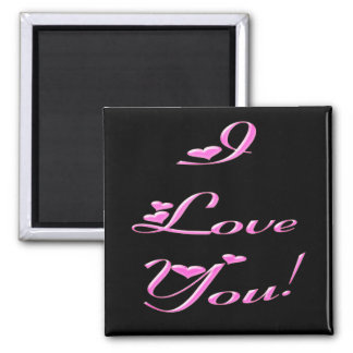 *I Love You* Pretty Hearts Fridge Magnets