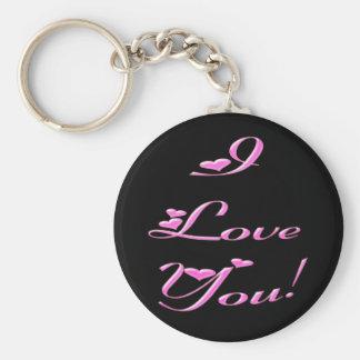 *I Love You* Pretty Hearts Key Chains