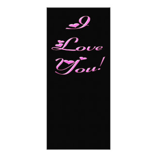 *I Love You* Pretty Hearts Personalized Rack Card