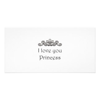 I Love You Princess Picture Card