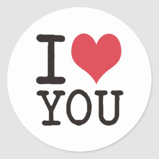 I LOVE YOU Products & Designs! Classic Round Sticker