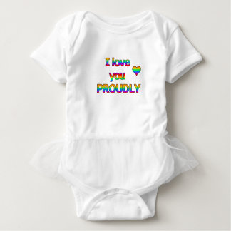 I love you proudly baby bodysuit
