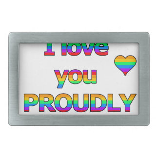 I love you proudly belt buckle