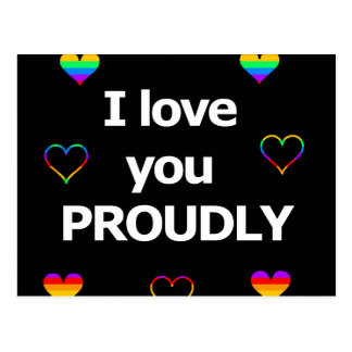 I love you proudly postcard