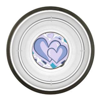 I Love You Purple & Blue Hearts Bowl