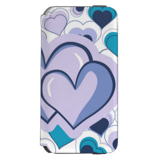 I Love You Purple & Blue Hearts iPhone 6/6s Wallet Case
