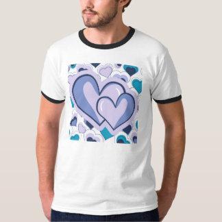I Love You Purple & Blue Hearts T-Shirt