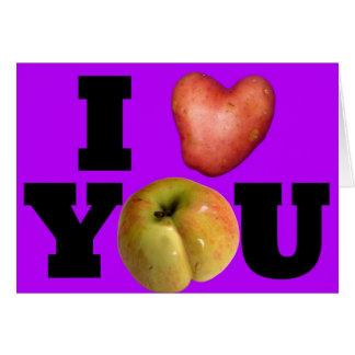 I LOVE YOU Purple Valentine's Day Greeting Card