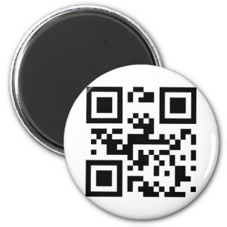 I Love You - QR Code 2 Inch Round Magnet