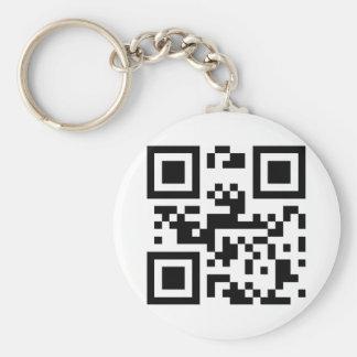 I Love You - QR Code Basic Round Button Keychain