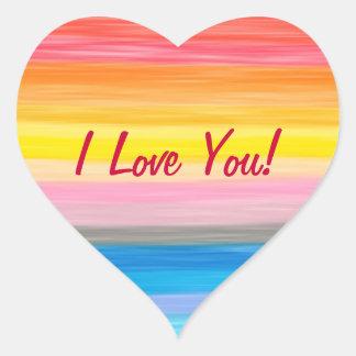 I Love You - Rainbow Stickers