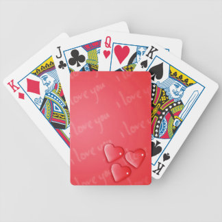 I Love You Red Bicycle Playing Cards