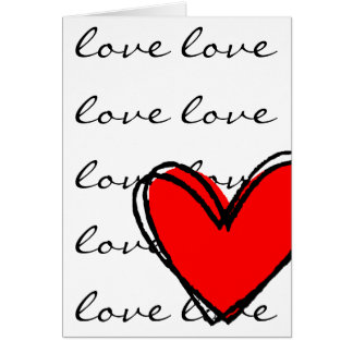 I Love You Red Heart Card
