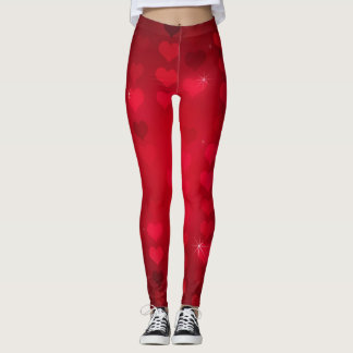 I Love You Red Heart Valentine's Day Leggings