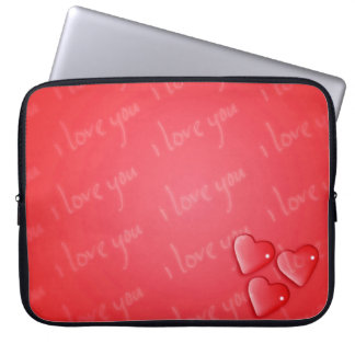 I Love You Red Laptop Sleeve