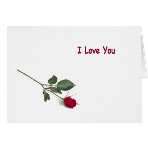 I Love You Red Rose Card | Zazzle