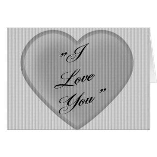 I Love You  Retro Valentine Card