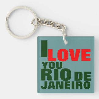 I LOVE YOU RIO DE JANEIRO Single-Sided SQUARE ACRYLIC KEYCHAIN