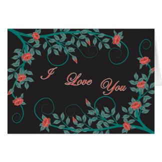 I love you roses greeting card
