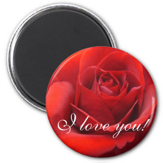 """I Love You"" Roses Magnet"