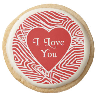 I Love You Round Shortbread Cookie