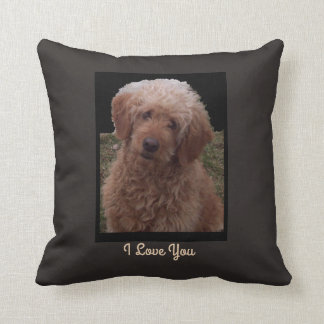 I Love You said by Cutest Dog in the World Throw Pillow