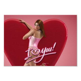 """I Love You Samantha 3.5"""" X 5"""" Invitation Card"""