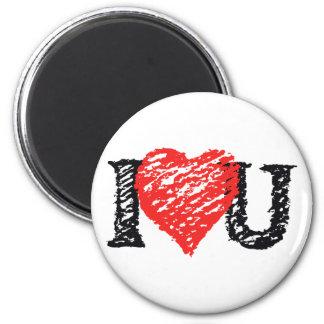 """I Love You"" Scribble Refrigerator Magnet"