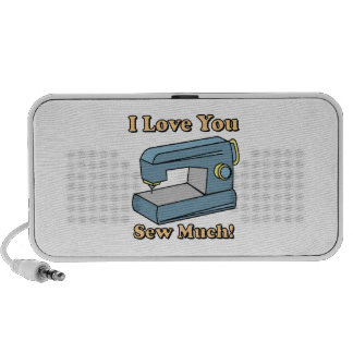 I Love You Sew Much Mp3 Speakers