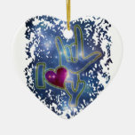 I LOVE YOU / sign language Christmas Ornament