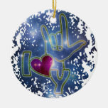 I LOVE YOU / sign language Christmas Ornaments