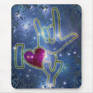 I LOVE YOU / sign language Mouse Pad