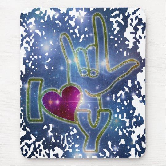 I LOVE YOU / sign language Mouse Pad
