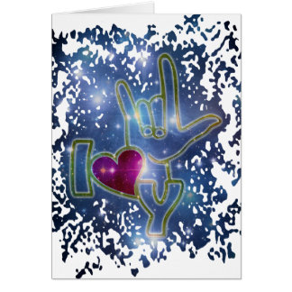 I LOVE YOU / sign language Stationery Note Card