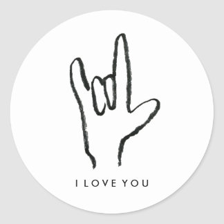 I Love You Sign Language Stickers