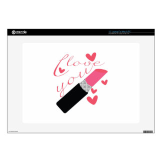 """I Love You Skin For 15"""" Laptop"""