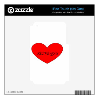 I LOVE YOU SKIN FOR iPod TOUCH 4G