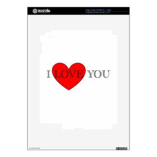 I LOVE YOU SKIN FOR THE iPad 2
