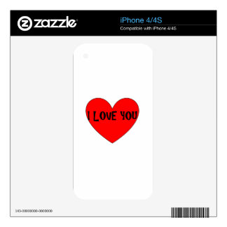 I LOVE YOU SKIN FOR THE iPhone 4