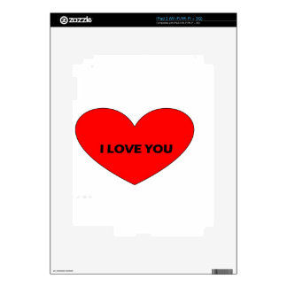 i love you skins for the iPad 2