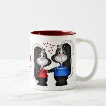 I Love You Skunk Mug